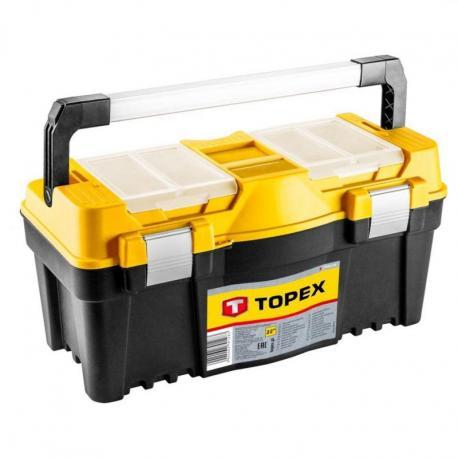 """TOPEX Skrzynka narzędziowa 22"""", z aluminiowym uchwytem"""