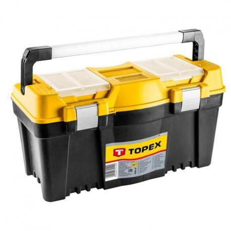 """TOPEX Skrzynka narzędziowa 25"""", z aluminiowych uchwytem"""