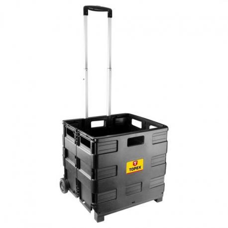 TOPEX Wózek transportowy, składana skrzynka, udźwig 35kg