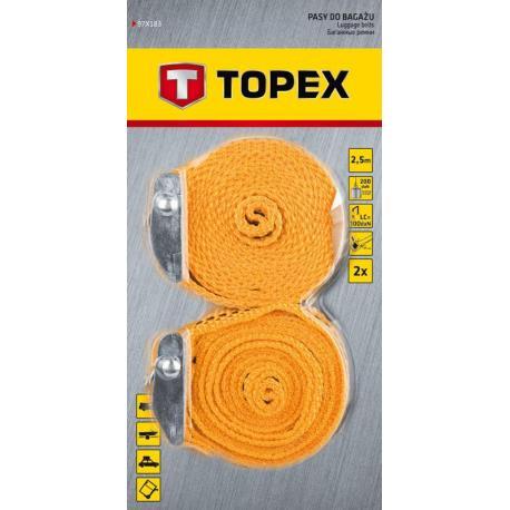 TOPEX Pasy do bagażu 2.5 m x 25 mm, 2 szt.