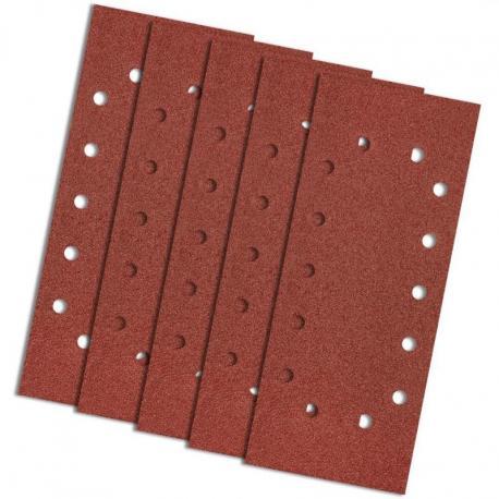GRAPHITE Papier ścierny 115 x 280 mm, K80, 5 szt., z otworami