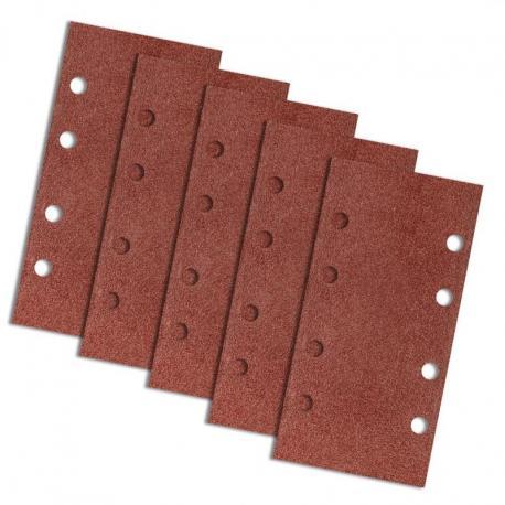 GRAPHITE Papier ścierny na rzep 93 x 185 mm, K60, 5 szt., z otworami