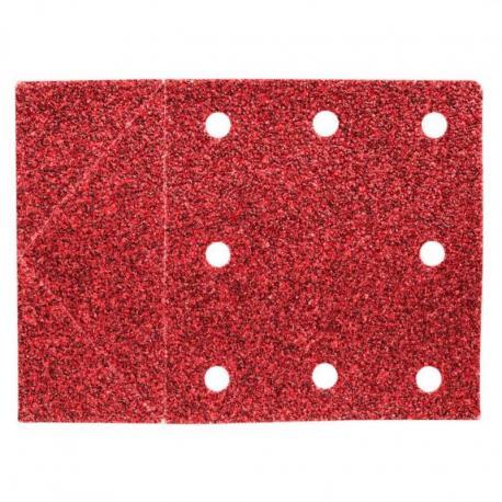 GRAPHITE Papier ścierny 115 x 160 mm, otwory, perforacja do odrywania, rzep. K60, 3 szt.