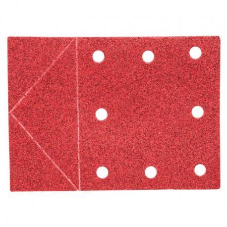 GRAPHITE Papier ścierny 115 x 160 mm, otwory, perforacja do odrywania, rzep. K80, 3 szt.