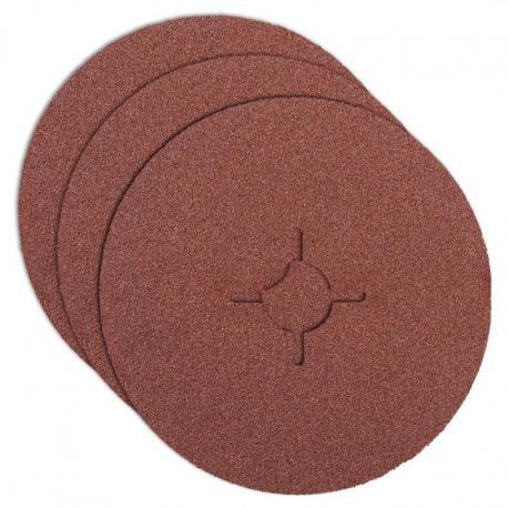 GRAPHITE Krążki ścierne fibra 125, K120, 3 szt.