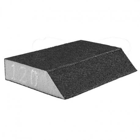 GRAPHITE Gąbka ścierna 125 x 25 x 90 mm, K120, skośna