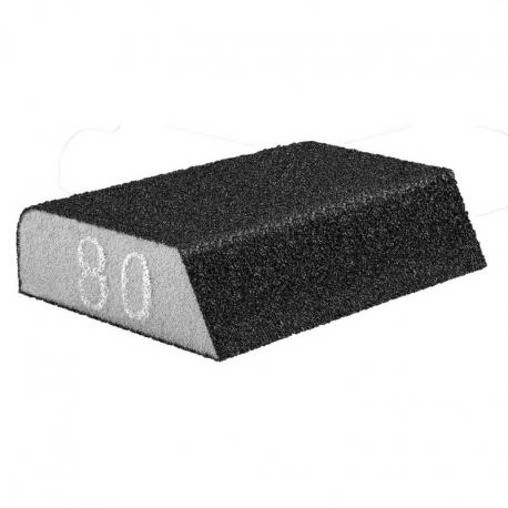 GRAPHITE Gąbka ścierna 98 x 25 x 68 mm, K80, skośna