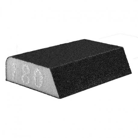 GRAPHITE Gąbka ścierna 98 x 25 x 68 mm, K180, skośna