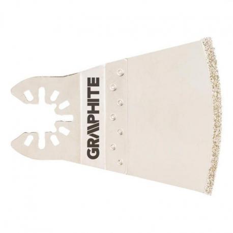 GRAPHITE Brzeszczot łukowy do urządzenia wielofunkcyjnego, 68 mm, galwaniczne pokrycie nasypem diamentowym
