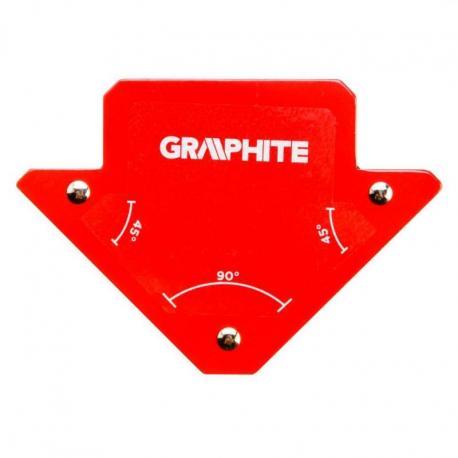 GRAPHITE Spawalniczy kątownik magnetyczny 82 x 120 x 13 mm, udźwig 11.4 kg