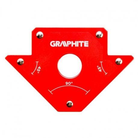 GRAPHITE Spawalniczy kątownik magnetyczny 102 x 155 x 17 mm, udźwig 22.7 kg