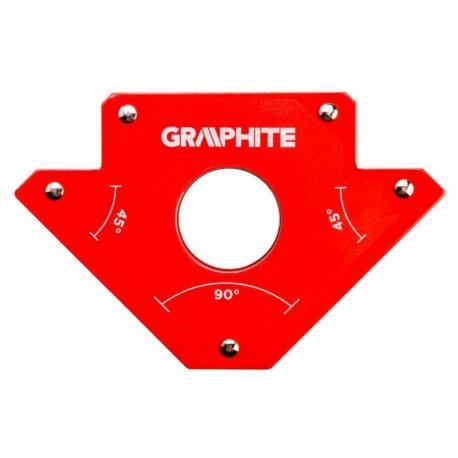 GRAPHITE Spawalniczy kątownik magnetyczny 122 x 190 x 25 mm, udźwig 34.0 kg