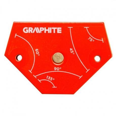 GRAPHITE Spawalniczy kątownik magnetyczny 64 x 95 x 14 mm, udźwig 11.4 kg