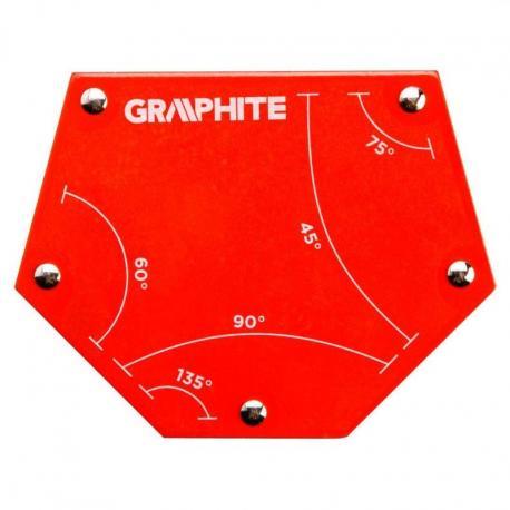 GRAPHITE Spawalniczy kątownik magnetyczny 111 x 136 x 24 mm, udźwig 34.0 kg