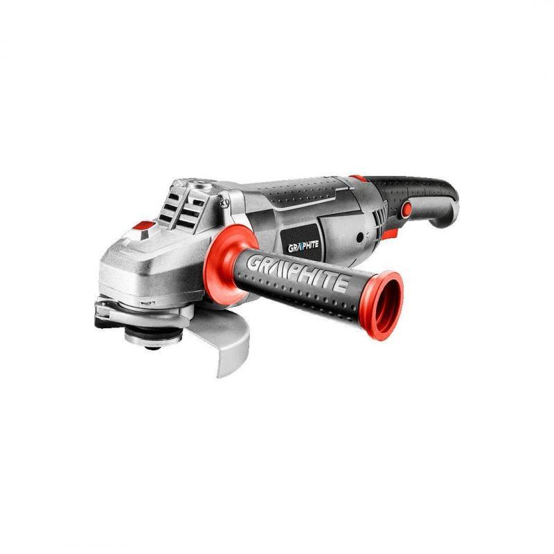 GRAPHITE Szlifierka kątowa 1200W, tarcza 125 x 22.2 mm obroty 3000-11000 min.