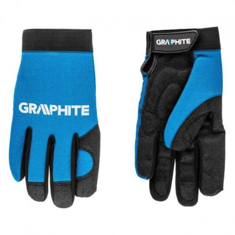 """GRAPHITE Rękawice robocze 10"""", skóra syntetyczna + elastyczna tkanina, CE"""