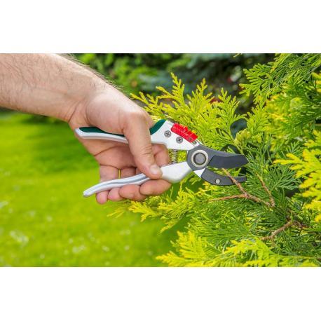 VERTO Sekator ogrodowy kowadełowy 195 mm, aluminiowy, średnica cięcia 18 mm