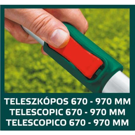 VERTO Sekator do gałęzi teleskopowy 670 mm, średnica cięcia 45 mm, uchwyty aluminiowe