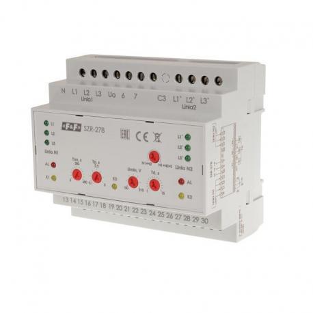Sterownik załączania rezerwy, sieć 3 i 4-przewodowa, 24÷230V AC, SZR-278