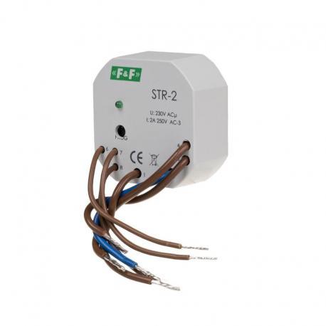 Sterownik roletowy, jednoprzyciskowy STR-2 napięcie 230V AC STR-2