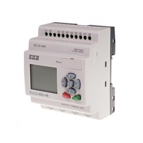 Sterownik swobodnie programowalny 8 wejść cyfrowych FLC12-8DI-4R
