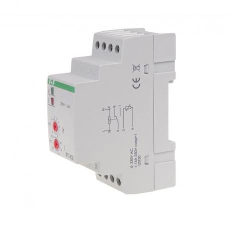 Regulator temperatury - zakres temperatur -4÷5°C montaz na szynie DIN, styk: 1NO/NC 230V AC RT-821
