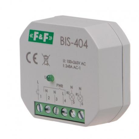 Przekaźnik bistabilny sekwencyjny do montażu podtynkowego BIS-404