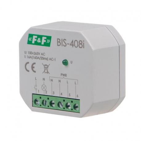 Przekaźnik bistabilny, podtynkowy, do podświetlanych przycisków z przekaźnikiem inrush 160A/20ms BIS-408i