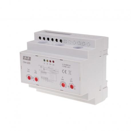 Ogranicznik poboru mocy, trójfazowy, pomiar bezpośredni do 50kW, montaż na szynie DIN OM-630