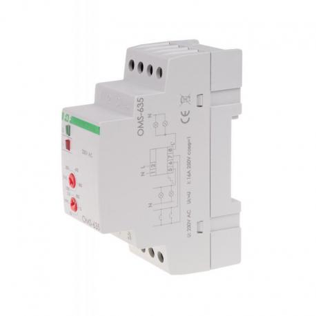 Ogranicznik poboru mocy z funkcja automatu schodowego, montaż na szynie DIN OMS-635
