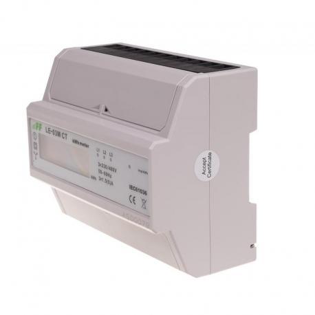 Licznik energii elektrycznej - trójfaz. z programowalną przekładnią , RS-485 MODBUS, LCD, kl.1 LE-03M-CT