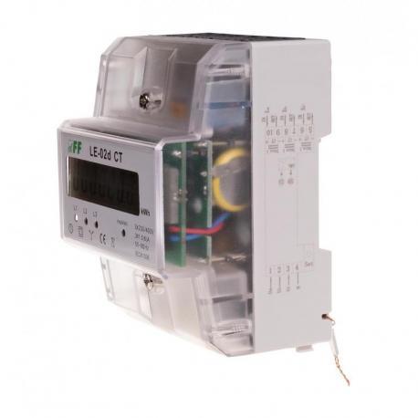 Licznik energii elektrycznej - trójfazowy z programowalną przekładnią, wyświetlacz LCD, kl.1 LE-02D-CT