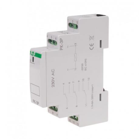 Przekaźnik elektromagnetyczny PK-3P 230V PK-3P-230V