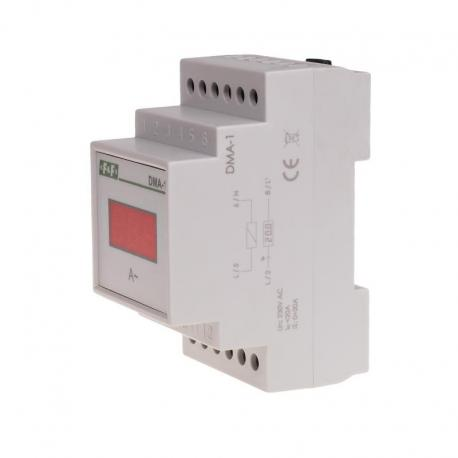 Cyfrowy wskaźnik wartości natężenia prądu, jednofazowy DMA-1, pomiar bezpośredni 20A DMA-1
