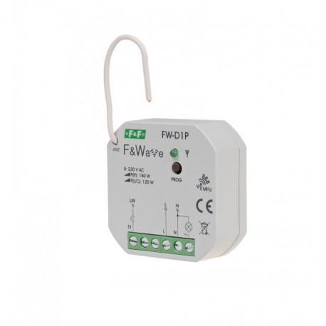 Radiowy ściemniacz uniwersalny 230V - montaż PDT 85÷265V AC/DC FW-D1P