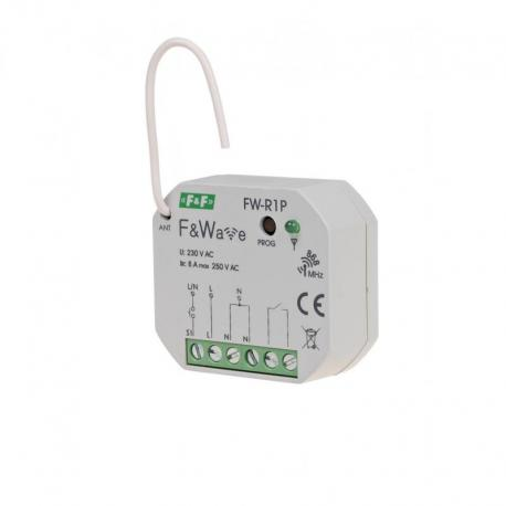 Radiowy pojedyńczy Przekaźnik bistabilny - montaż PDT 85÷265V AC/DC FW-R1P
