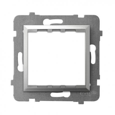 ARIA Adapter podtynkowy systemu OSPEL 45 do serii Aria AP45-1U/m/18 SREBRO