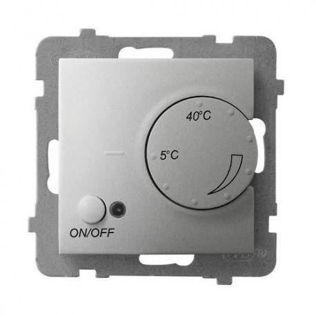 ARIA Regulator temperatury z czujnikiem napowietrznym RTP-1UN/m/18 SREBRO