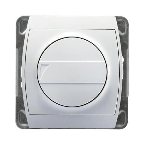 GAZELA Ściemniacz przyciskowo-obrotowy przystosowany do obciążenia żarowego i halogenowego ŁP-8JB/m/00 BIAŁY