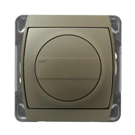 GAZELA Ściemniacz przyciskowo-obrotowy przystosowany do obciążenia żarowego i halogenowego ŁP-8JB/m/16/16 SATYNA/SATYNA