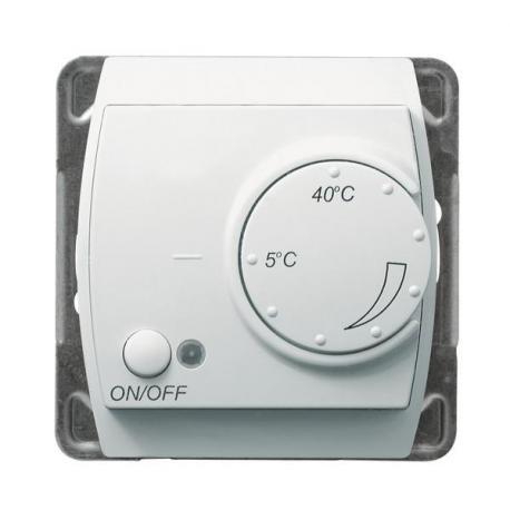 GAZELA Regulator temperatury z czujnikiem podpodłogowym RTP-1J/m/00 BIAŁY