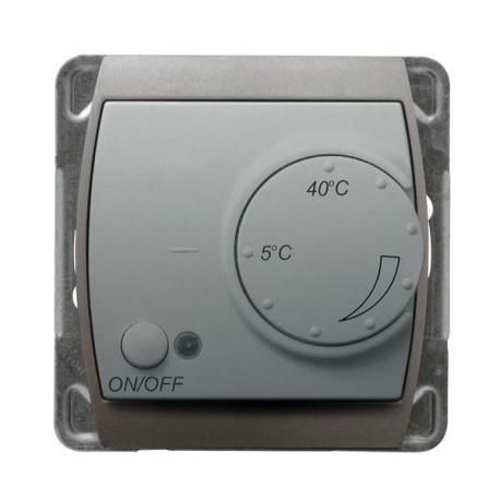 GAZELA Regulator temperatury z czujnikiem podpodłogowym RTP-1J/m/18/23 SREBRO/TYTAN