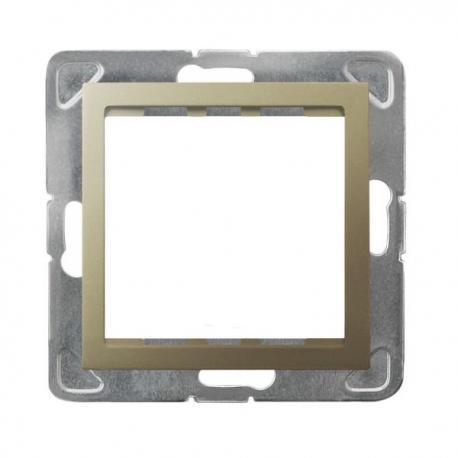 IMPRESJA Adapter podtynkowy systemu OSPEL 45 do serii Impresja AP45-1Y/m/28 ZŁOTY METALIK
