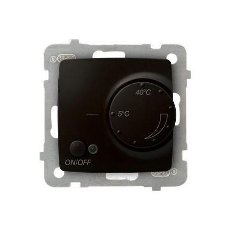 KARO Regulator temperatury z czujnikiem podpodłogowym RTP-1S/m/40 CZEKOLADOWY METALIK