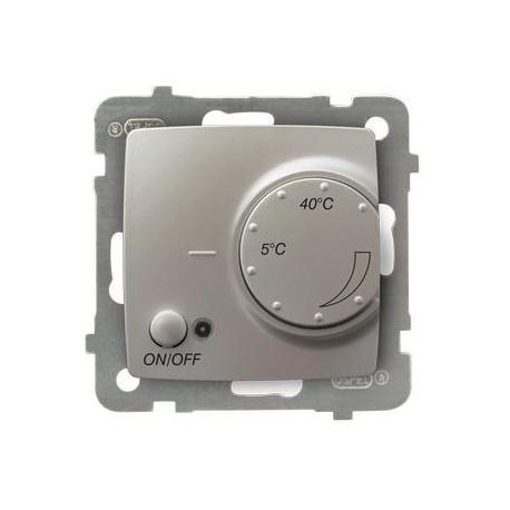 KARO Regulator temperatury z czujnikiem napowietrznym RTP-1SN/m/43 SREBRNY PERŁOWY