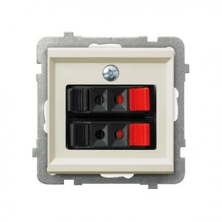 SONATA Gniazdo głośnikowe podwójne GG-2R/m/27 ECRU