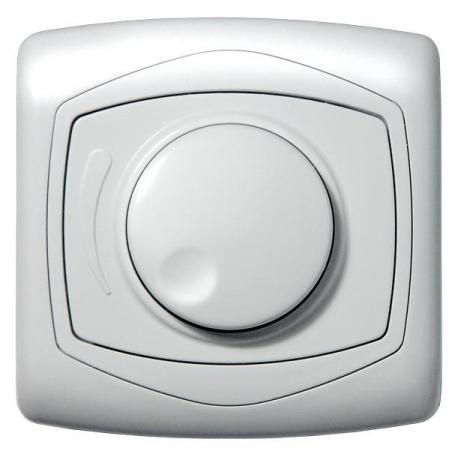 TON Ściemniacz przyciskowo-obrotowy przystosowany do obciążenia żarowego ŁP-8CA/00 BIAŁY