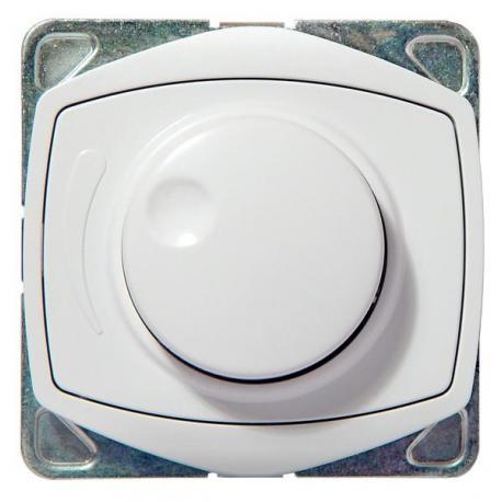 TON COLOR SYSTEM Ściemniacz przyciskowo-obrotowy przystosowany do obciążenia żarowego ŁP-8CA/m/00 BIAŁY