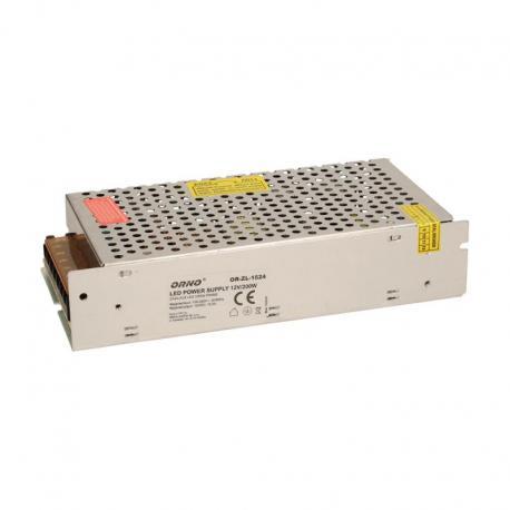 Orno Zasilacz open frame 200W do oświetlenia LED 12VDC