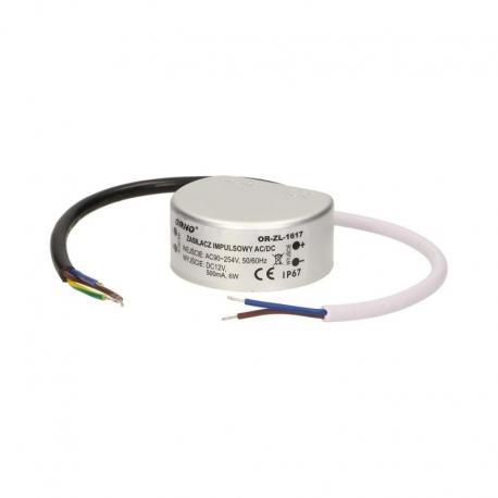 Orno Zasilacz do LED do puszki AC/DC LED 5W, IP67